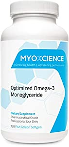 MonoSorb 1300 | Extra Strength Fish Oil | 600 mg EPA | 260 mg DHA | Monoglyceride Form | IFOS Certified | Enteric Coated | Large (Large, 120 Caps)