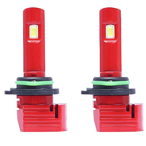 Mogzank 1 Par Rojo X11 LED Bombillas para Faros Delanteros de Coche 9006 LáMparas LED para Coche con 8000K 1860 CSP LED Chip 72W 10000LM