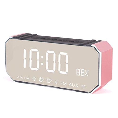 Music Alarm Clock, Wireless Bluetooth Speaker Creative Alarm Clock Silent Cannon Clock Student Smart Multi-Function Clock (Color : B)