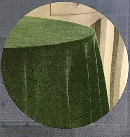 EDEN DELUXE Falda DE Mesa Camilla Terciopelo Raschel Color: Verde, 80-(223cm).