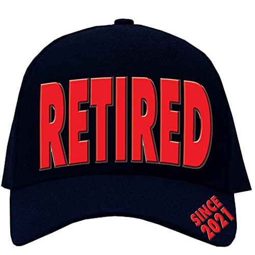 Bombo Gorra de jubilación con texto en inglés «El año de jubilación».