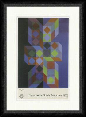 Kunstdruck Olympische Spiele München 1972 Poster Victor Vasarely Faks_Plakatwelt 675
