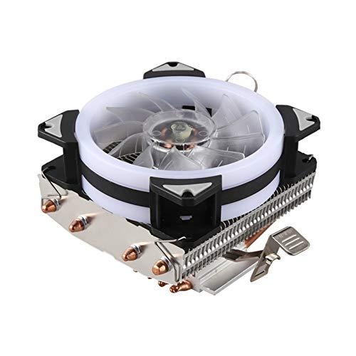 Radiador del ventilador Radiador de la CPU 4 de cobre puro de la pipa de calor Torre de refrigeración de paso bajo Sistema de refrigeración 9 Cm ventilador de la CPU de la CPU del radiador