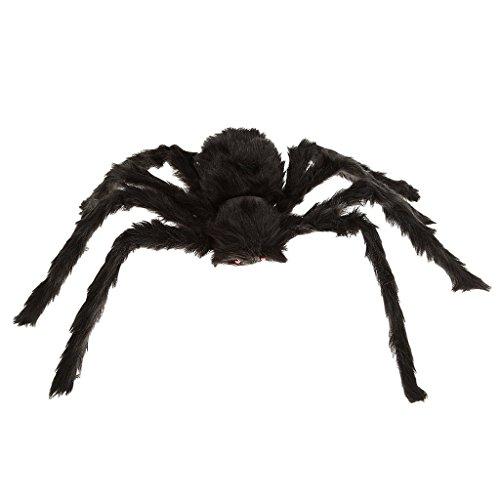 Set de decoración de Halloween 40x25cm Halloween araña de Peluche (Ojos Rojos) Regalos para Niños en Halloween