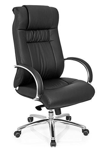 hjh OFFICE 724000 silla ejecutiva XXL G 600 piel sintética negro sillón buen acolchado