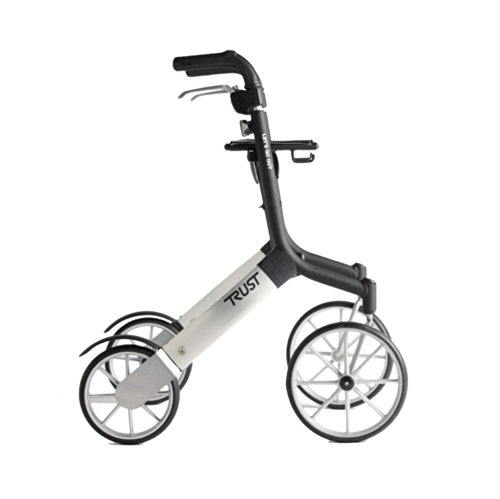 Trust Care outdoor rollator Let's Go Out zwart zilver
