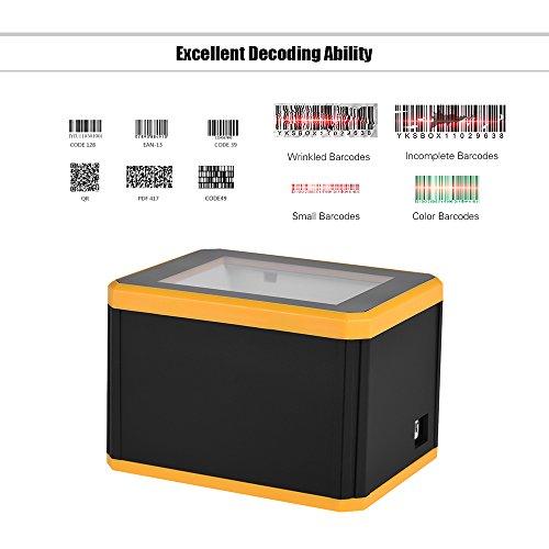 Aibecy Omnidiretional Barcode Scanner Plate-forme 1D / 2D / QR lecteur de code à barres lecteur Présentation avec interface USB