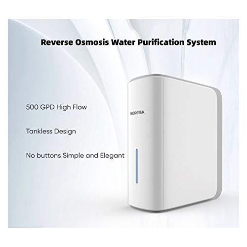 Osmosis inversa Flujo directo 500 GPD con Bomba y autolavado