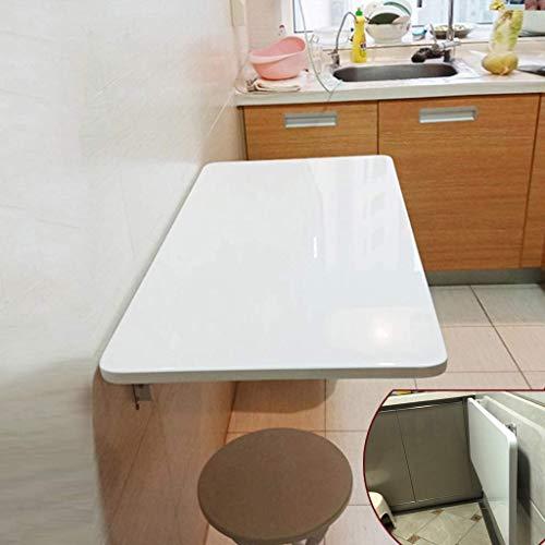 DFJU Mesa Plegable de Hoja abatible montada en la Pared, Escritorio para computadora, Mesa para niños, Escritorio, Mesa de Comedor para Cocina, Escritorio con Caballete