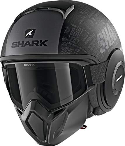 Shark Casque moto STREET DRAK TRIBUTE RM MAT KAA, Noir/Anthracite, S
