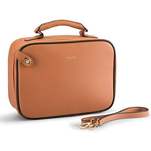 Oriflame Leather Anniversary Collection Beauty Case (Tan)