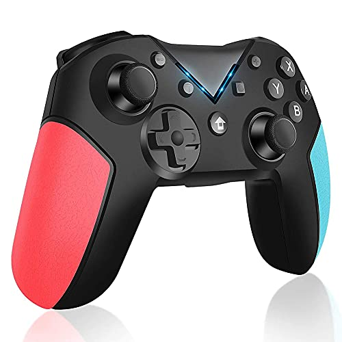 Kilcvt Gamepad Inalámbrico Multifuncional, Gamepad Bluetooth Gamepad Wireless Joystick Game Controller, para Pro Turbo Function Controller Gamepad para La Consola del Interruptor