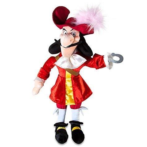 "Disney Store Disney Junior Jr. Jake and The Never Land/Neverland Pirates 20"" Captain Hook Plush Ragdoll Stuffed Doll Toy Gift"