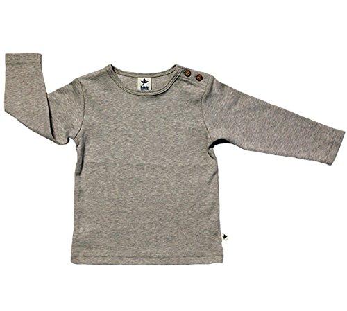 rescence naturel/Baby-Kinder Baby Kinder Langarmshirt Bio-Baumwolle GOTS 13 Farben T-Shirt Shirt Jungen Mädchen Gr. 50/56 bis 140 (74-80, beige)