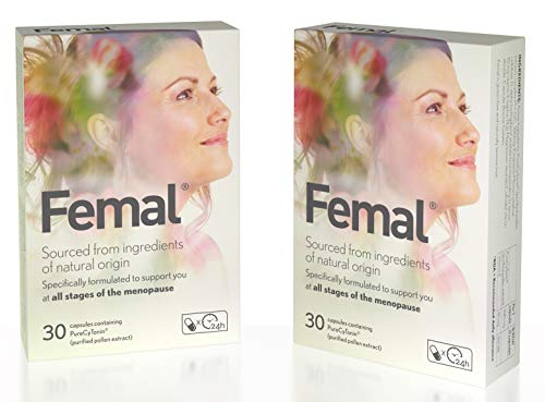 Femal Menopause Supplement, for Women with Menopause or Perimenopause, Scientifically Tested Formula, Plant-Based, No Hormones, No Phytoestrogens, 1 Capsule per Day, 60 Capsules, 2 Month's Supply