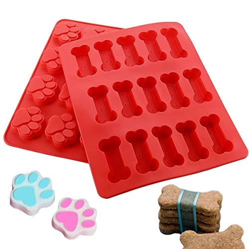 Joyoldelf Vassoi per Stampi in Silicone, Stampo per Torte per Cuccioli E Zampe di Cucciolo Stampo per Torte E Zuppe di Cucciolo per Biscotti Dolci Caramelle Jelly Chocolate
