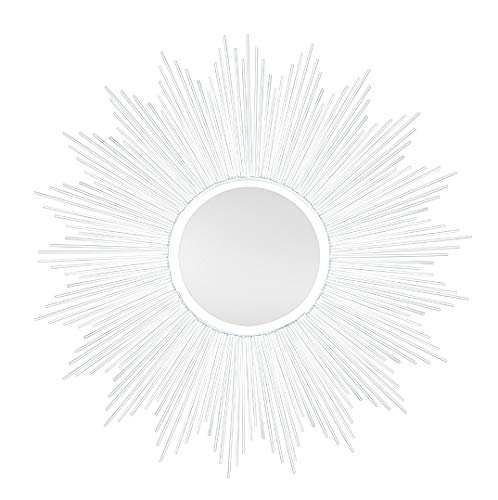 Sun Espejo de Pared con Efecto de Sol, 80 cm, Color Plateado