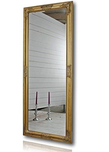 elbmöbel Wandspiegel groß in Gold antik mit Holz-Rahmen 150 x 60cm