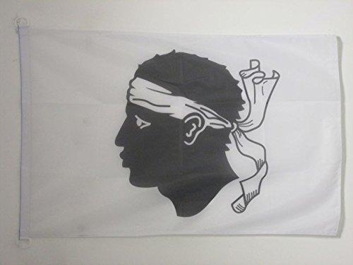 AZ FLAG Flagge Korsika 150x90cm - Corse Fahne 90 x 150 cm Aussenverwendung - flaggen Top Qualität