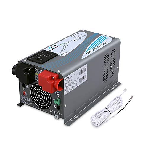 Renogy 1000W 12V Pure Sine Wave Inverter Charger DC AC Battery Converter with 2 Outlets, for Car RV, Truck, and Off Grid Solar Power System, black