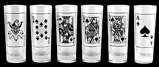 BarConic Poker 2oz Shot Glass Set - 6 Pack