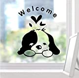 Pegatinas De Pared Murales Papel Tapiz Cartel Perro Lindo Bienvenido A Casa Pegatinas Decoración De Pared Vinilo Calcomanía Para El Hogar Mural Arte Cartel Impermeable