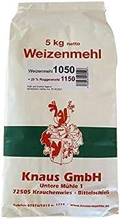 Weizenmehl Type 1050  20% Roggenmehl Mischmehl Brotmehl in Bäckerqualität 5 kg