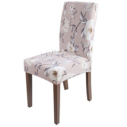 PPOOLLK druk stretch elastische stoel bedekking restaurant hotel Home Decor Universal sizes Witte bloem