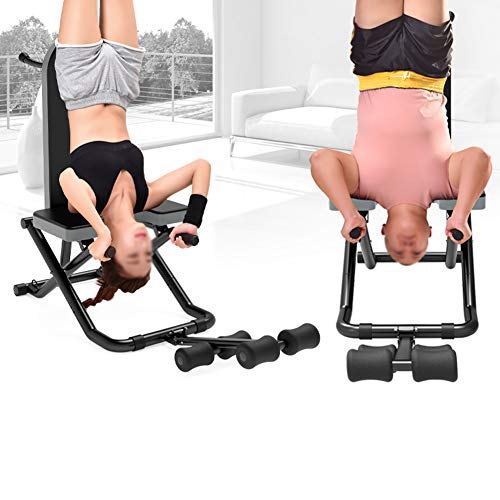 Weight Bench, Heavy Duty Sit Up Bench Flat/Incline/Decline Bench Fitness Yoga Inversion Table Chair Folding Multi-functional Bench Utility Exercise Workout Equipment Load up to 330lbs for Home Gym