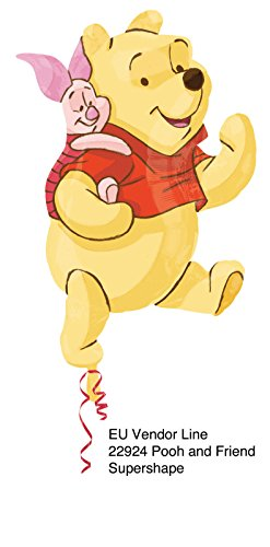 Ballonim® Winnie Pooh und Ferkel ca. 80cm Luftballons Folienballon Party DekorationGeburtstag