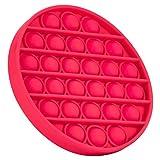 TK Gruppe Timo Klingler Fidget Toy Pop Push Pop It - geprüft & kinderfreundlich - für Kinder & Erwachsene - Push Bubble zur Ablenkung bei Stress & Nervosität (Round pink)