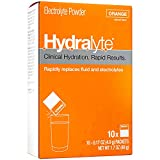 HydralyteElectrolyte Powder Packets - Orange   20 Packets   Prevents & Relieves Dehydration   Rehydrates Faster Than Water   Vegan, Gluten Free & Caffeine Free