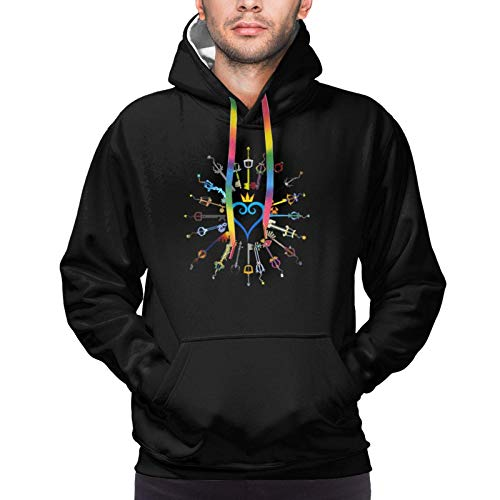 K-Ingdom Hearts Men's Fashion Hoodie Hooded Pocket Sweater Casual Pullover