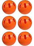 WIFFLE Ball Pack of 6 Orange Official Ball Regulation Size Baseballs - Official Orange Ball Soft Plastic Baseball Set