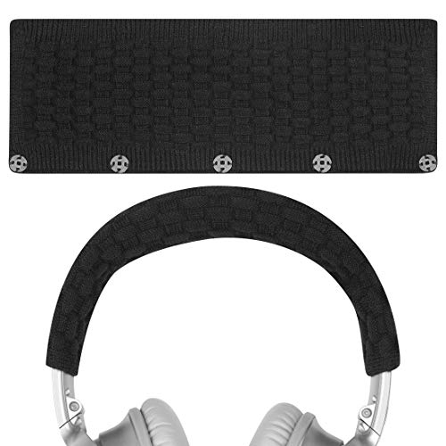 Geekria Headphone Headband Cover for Bose QC35 II, QC25, QC15, QC2 Replacement Bose QuietComfort Headband Cover/Comfort Cushion/Top Pad Protector Sleeve (Black)