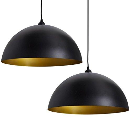 vidaXL 2 x hanglamp plafondlamp hanglamp lamp eettafel hanglamp metaal