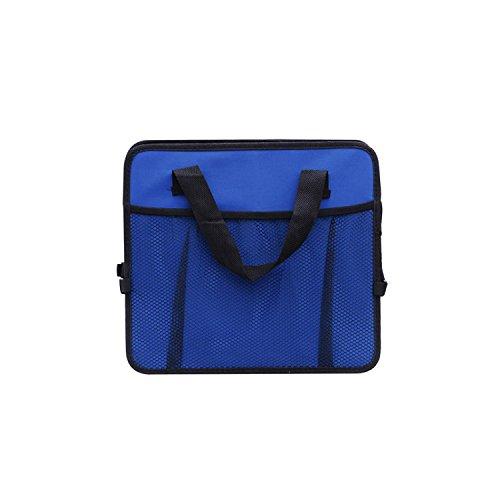 MuZuZi Boîte de rangement de voiture Organisateur sac de pliage Oxford sac de tissu de camion voiture sac de rangement de rangement alimentaire (blue, Type A)