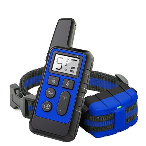 ZFFLYH Dispositivo De Entrenamiento para Perros, 500 M Remoto De Descarga Eléctrica Alarma De Collar Electrónica Impermeable, para Entrenador Doméstico De Perros,Azul