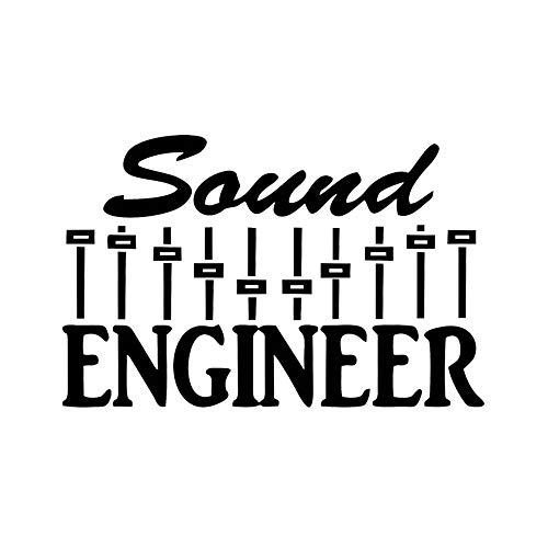 Ingeniero De Sonido Calcomanía Calcomanía Mezclador De Música Sub Woofer Batería Guitarra Bajo Teclado Pegatinas Hermosas Y Geniales