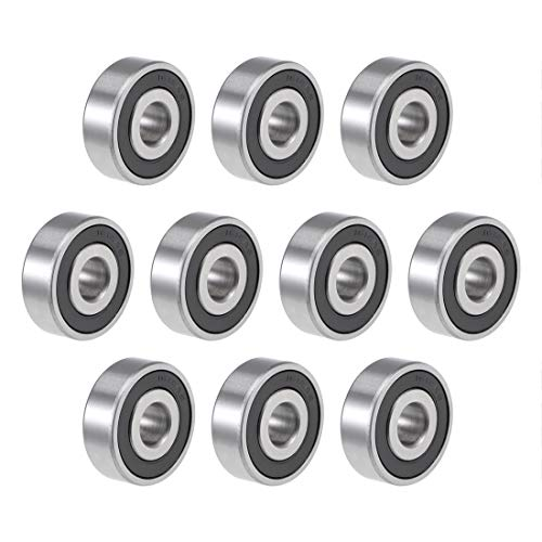 uxcell 1614-2RS Deep Groove Ball Bearing 3/8-inchx1-1/8-inchx3/8-inch Sealed Z2 Lever Bearings 10pcs