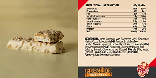 Grenade Carb Killa High Protein and Low Carb Bar, 12 x 60 g - A Selection Box