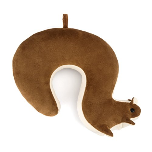 balvi Reisekissen Squirrel Farbe braun In Form eines Eichhörnchens Tasche und Aufhänger inbegriffen Baumwolle