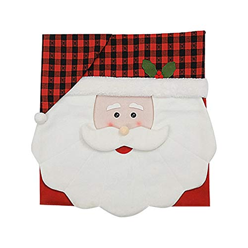 Santa Hat Chair Covers Creative Christmas Decor Kitchen Dinner Xmas Cap Gift for Home Party Office Restaurant Garden Ornament Xmas Holiday Decor Ornament for Festival