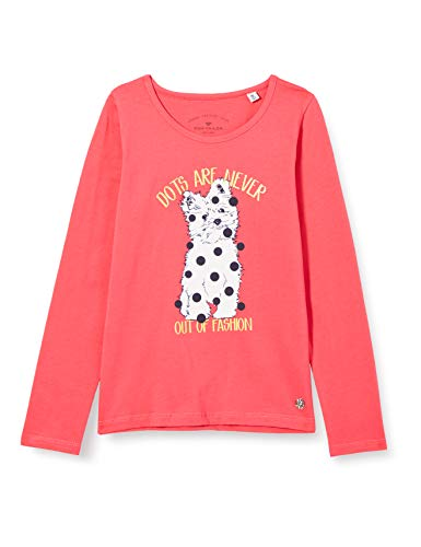 TOM TAILOR Baby-Mädchen Langarmshirt T-Shirt, Rouge red|red, 116/122