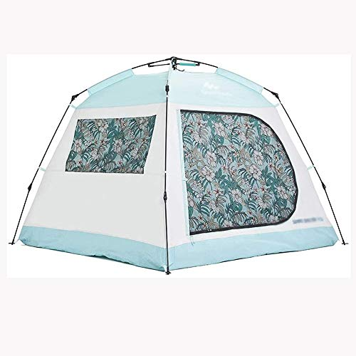 TWDYC 2 People Automatic Speed Outdoor Tent Thickened Portable 3-4 People Tent Beach Camping Sunscreen Small Layer Tent Tent for Camping With