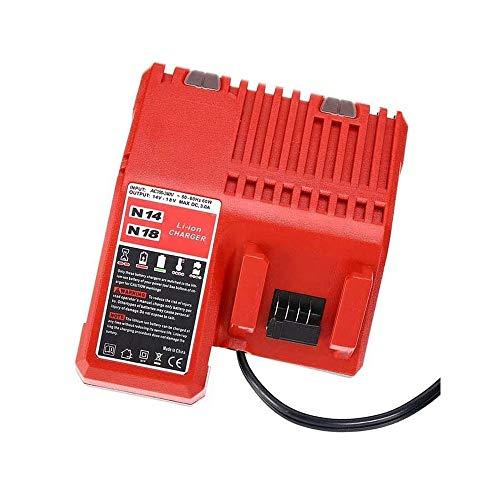 Cargador de repuesto Milwaukee 3A para baterías Milwaukee 14,4 V y 18 V M12-18C MIL-M18-CH01 48-59-1812 de iones de litio