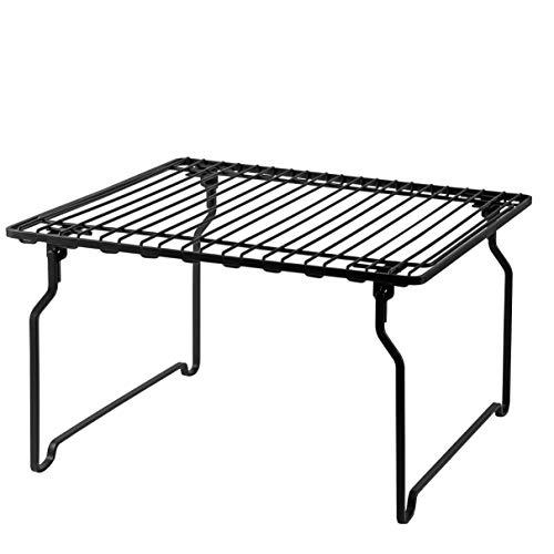 【BLKP】 パール金属 積み重ね 棚 限定 ブラック ワイドサイズ キッチン 収納 BLKP 黒 AZ-5051