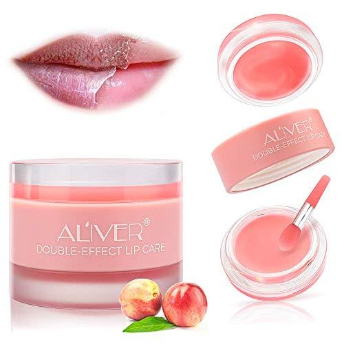 DOUBLE-EFFECT Lip Sleep Mask with Collagen Peptide,Lip Mask+Lip Scrub Intensive Lip Repair Treatment, Sleeping Lip Balm,Lip Primer, Lip Scrub, Lip Moisturizer for Lip Care and Lip Treatment