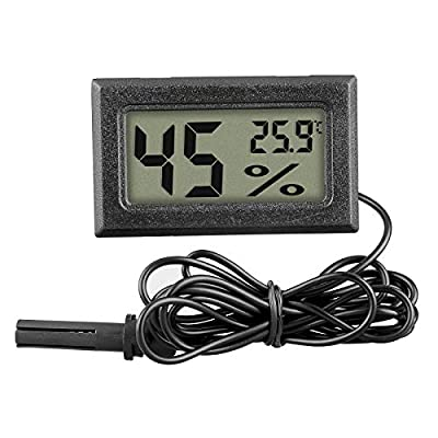 Linkstyle 5PC Mini Digital Temperature Humidity Meter Gauge Thermometer Hygrometer LCD Degree Centigrade (?) Display Indoor