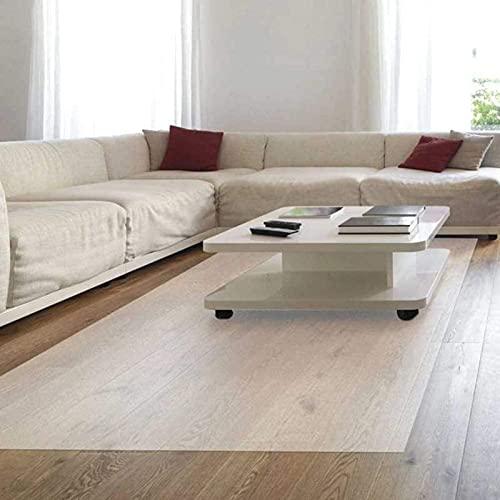 ZWYSL Bodenschutzmatte Transparent, Schutzmatte Für, rutschfest/Geräuschlos/Kratzfest, Multifunktionale Bodenschutzmatte, (Color : 2mm, Size : 90X150cm)